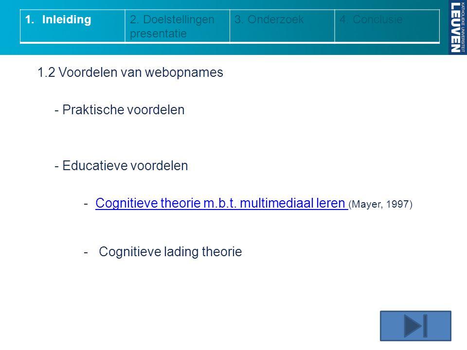 1.2 Voordelen van webopnames - Praktische voordelen