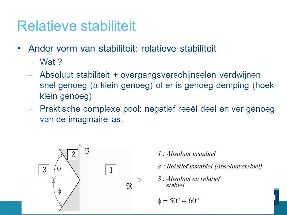 Relatieve stabiliteit