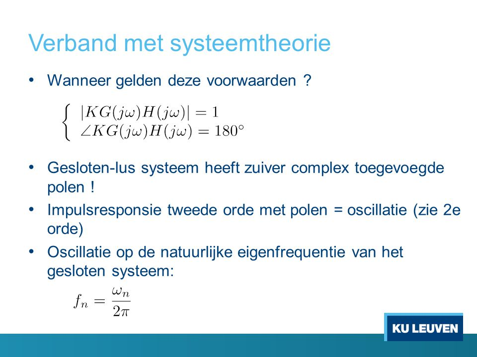 Verband met systeemtheorie