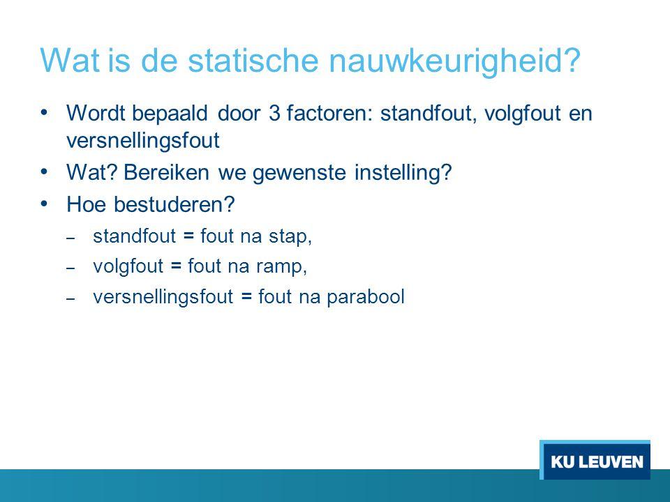 Wat is de statische nauwkeurigheid