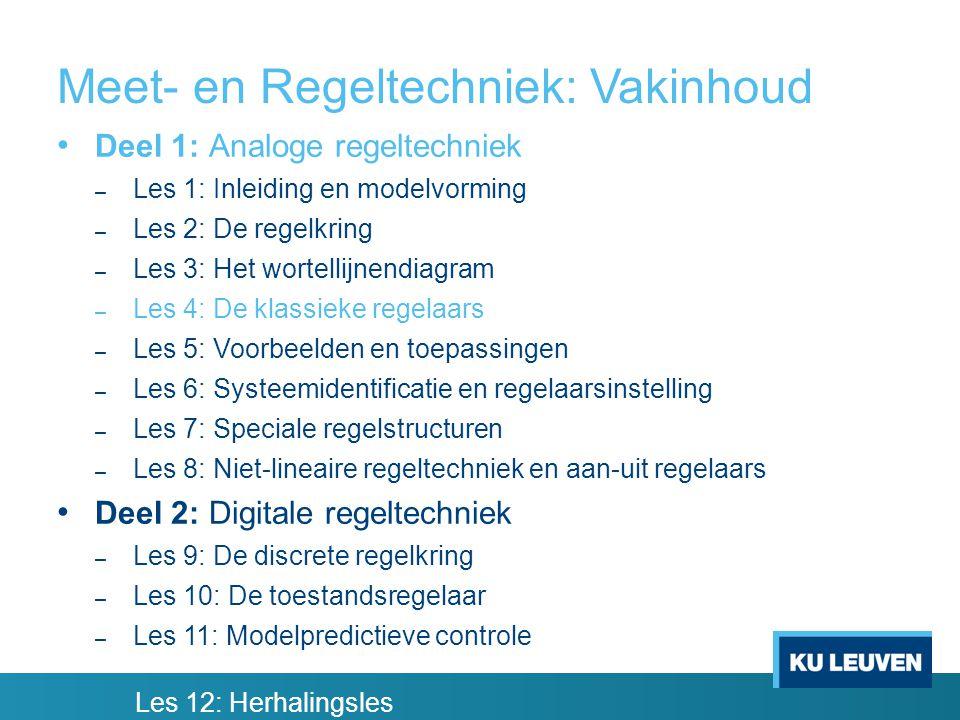 Meet- en Regeltechniek: Vakinhoud