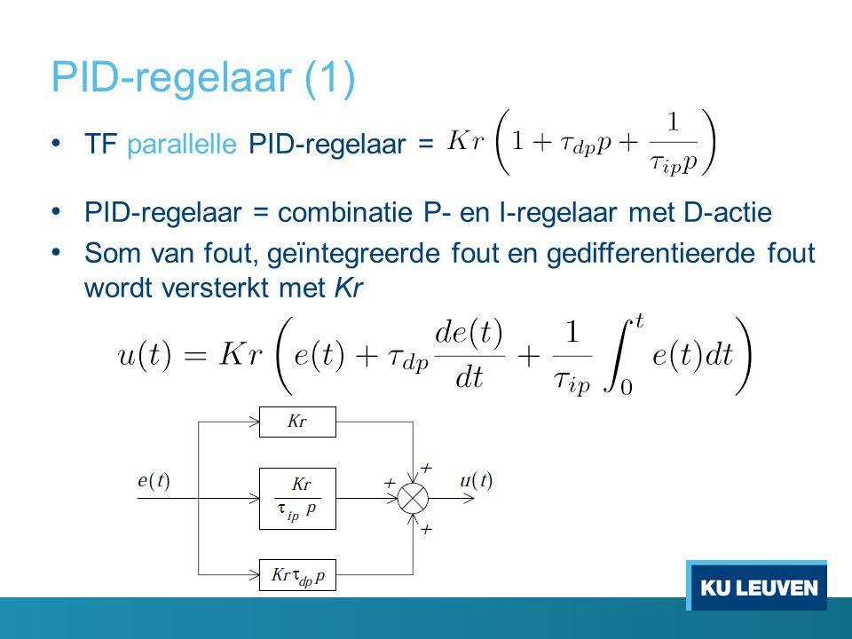 PID-regelaar (1) TF parallelle PID-regelaar =