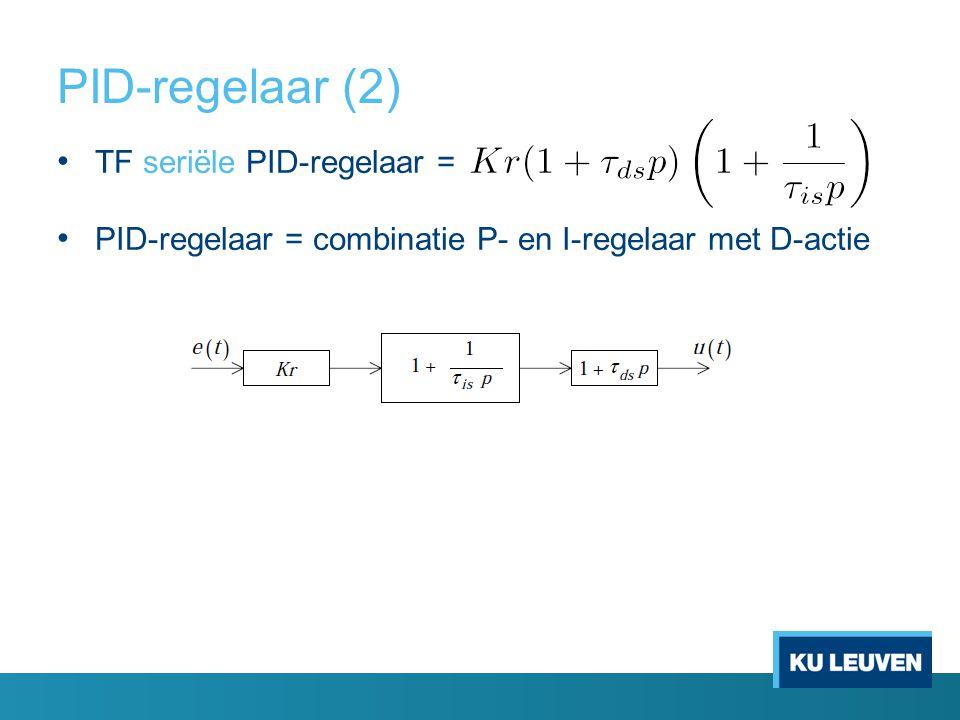 PID-regelaar (2) TF seriële PID-regelaar =