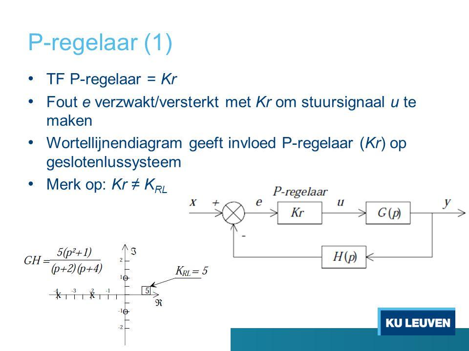 P-regelaar (1) TF P-regelaar = Kr