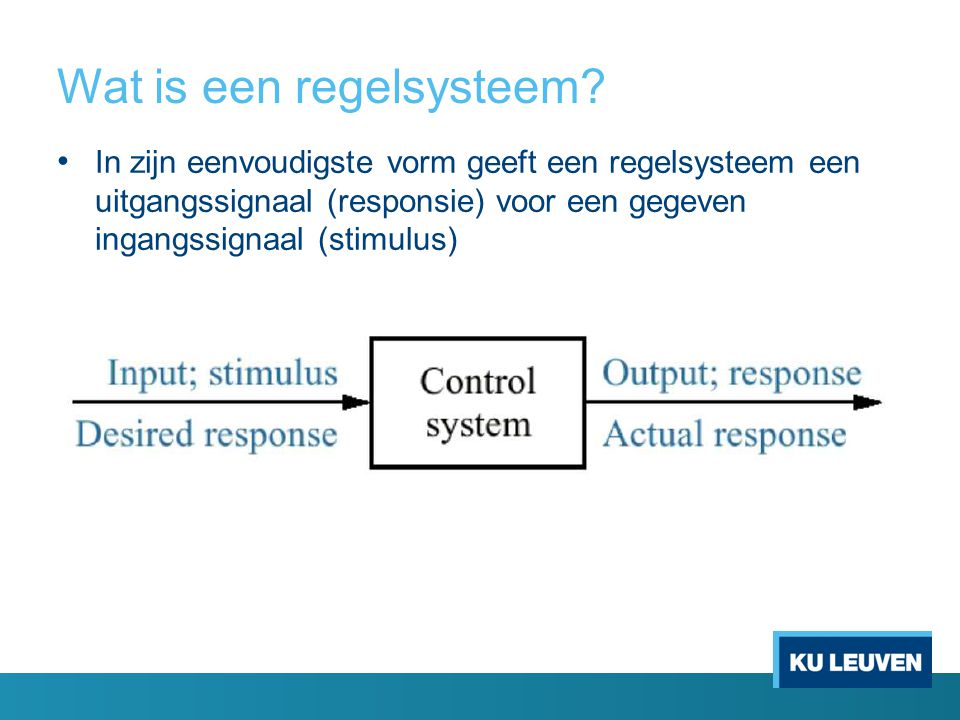 Wat is een regelsysteem