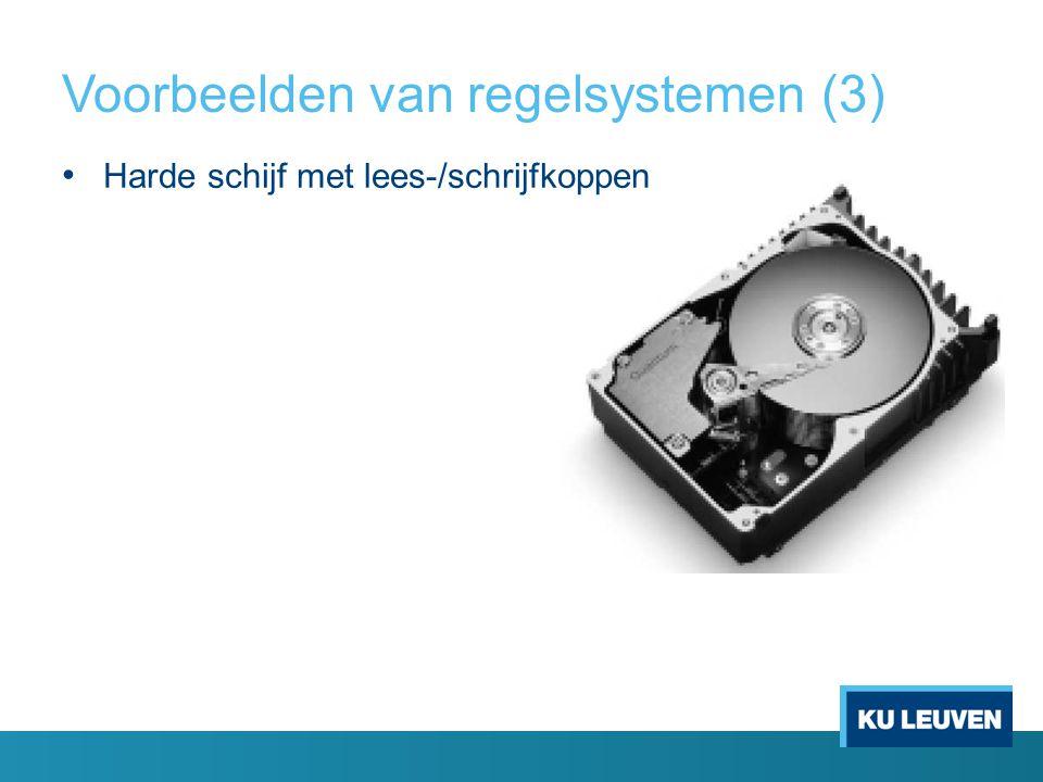 Voorbeelden van regelsystemen (3)