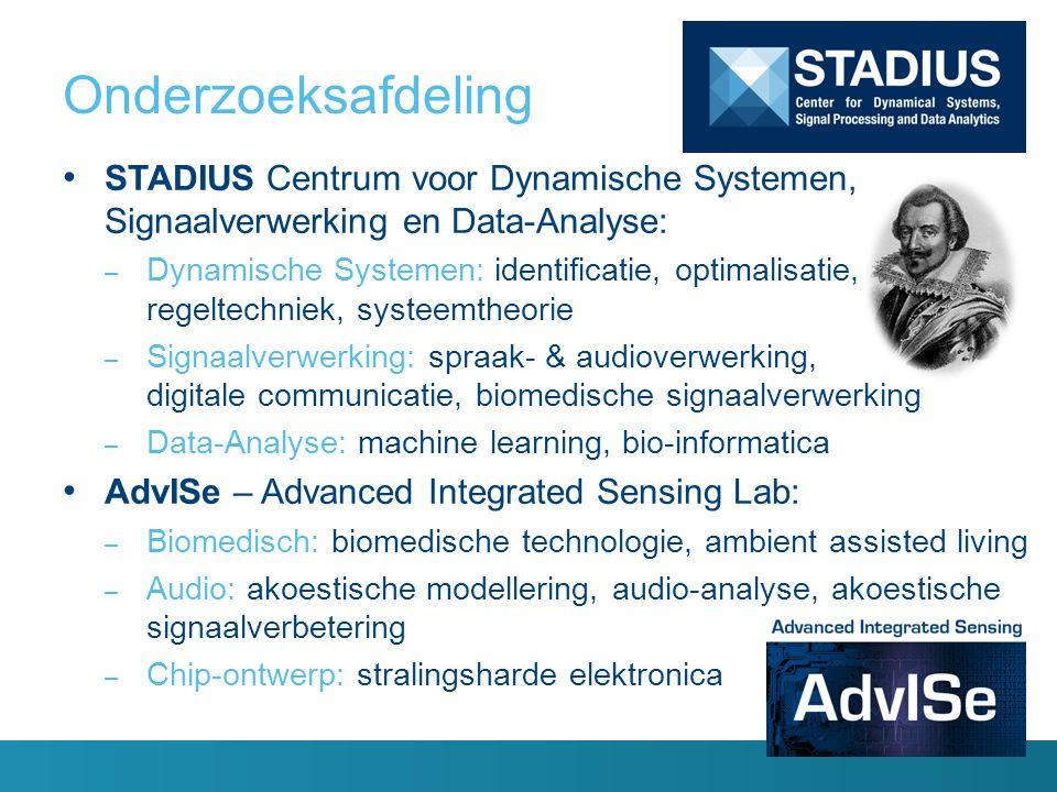 Onderzoeksafdeling STADIUS Centrum voor Dynamische Systemen, Signaalverwerking en Data-Analyse: