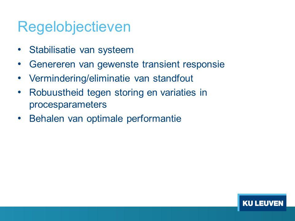 Regelobjectieven Stabilisatie van systeem