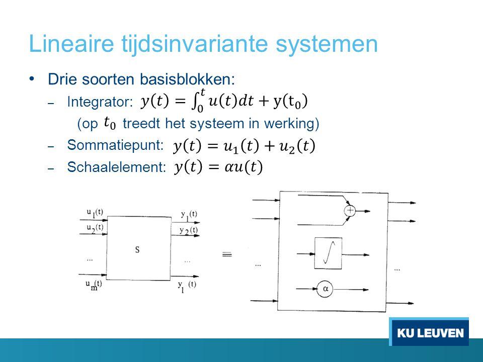 Lineaire tijdsinvariante systemen