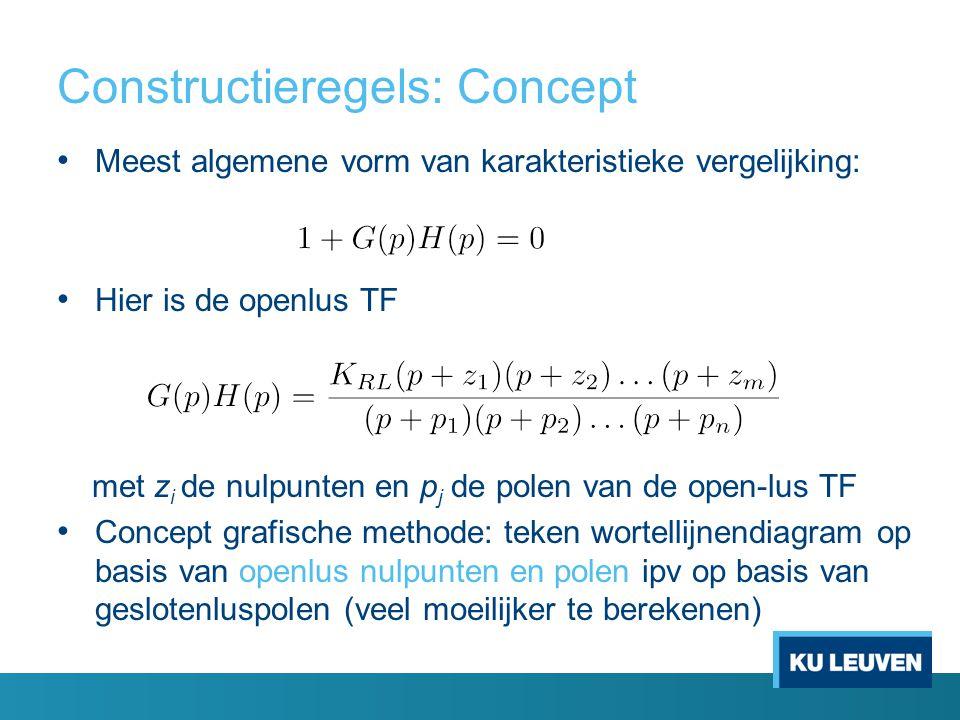 Constructieregels: Concept