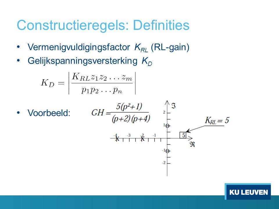 Constructieregels: Definities