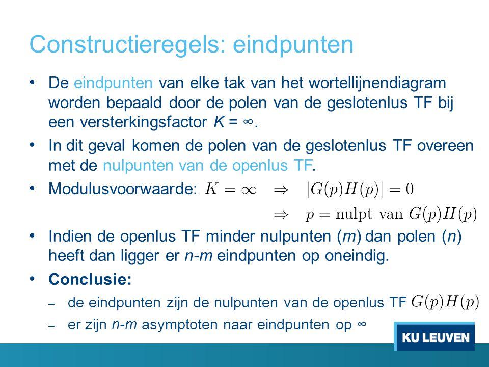 Constructieregels: eindpunten