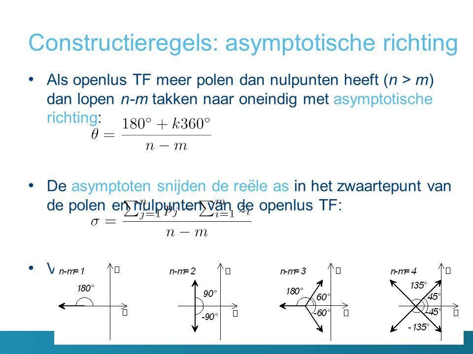 Constructieregels: asymptotische richting