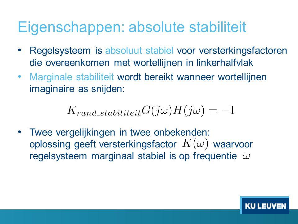 Eigenschappen: absolute stabiliteit