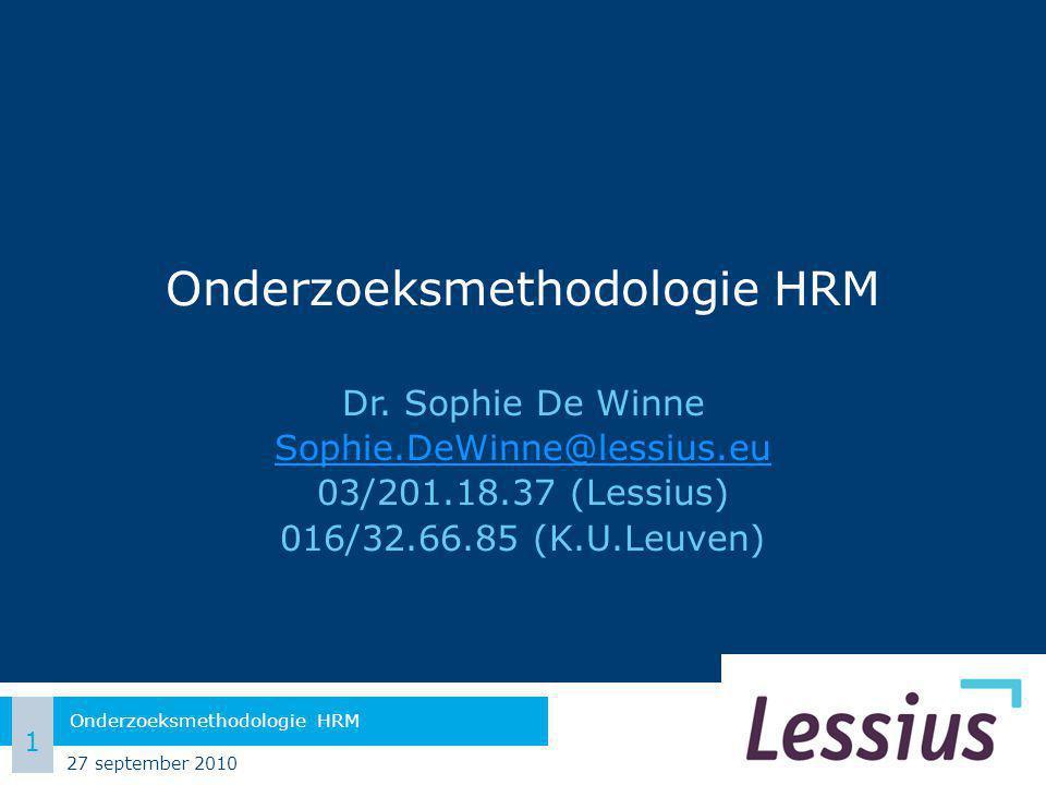 Onderzoeksmethodologie HRM