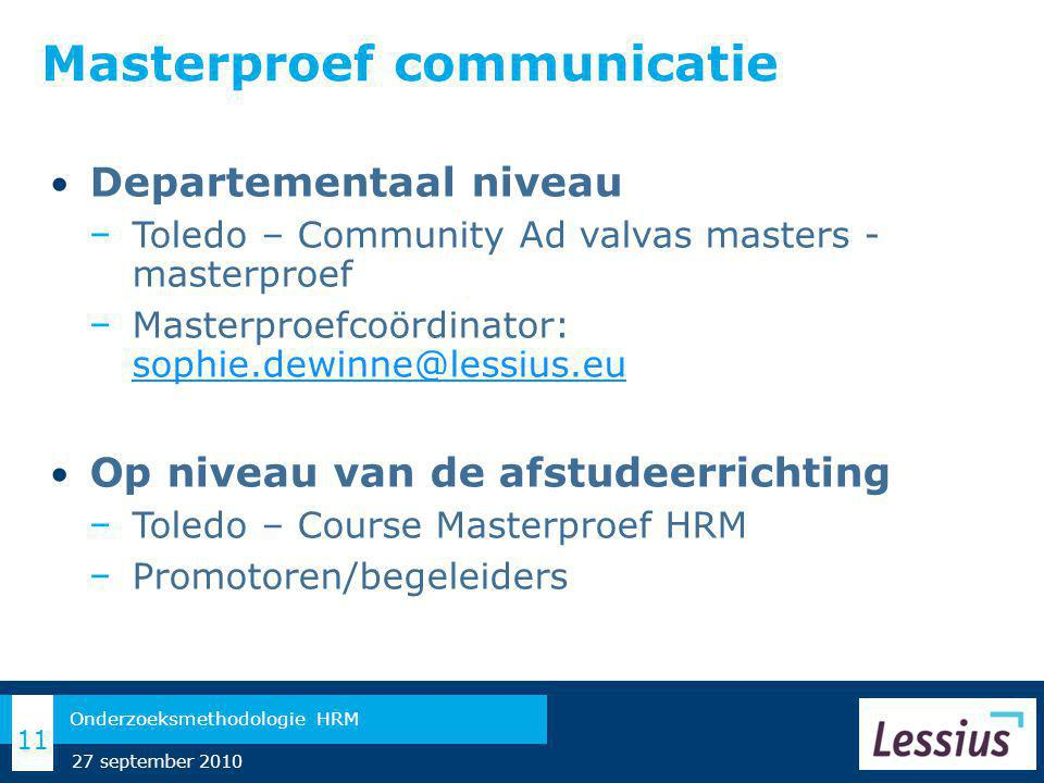 Masterproef communicatie