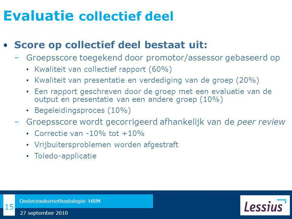 Evaluatie collectief deel