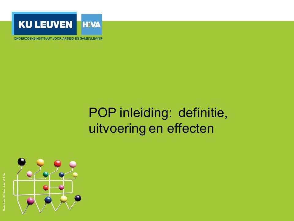 POP inleiding: definitie, uitvoering en effecten