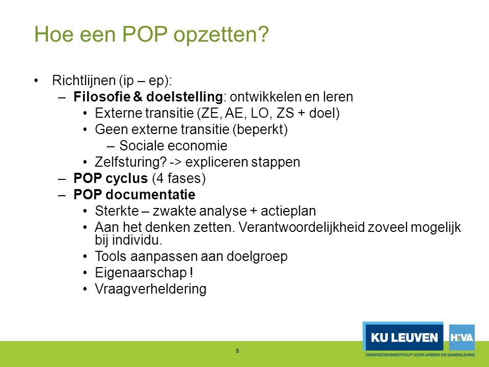 Hoe een POP opzetten Richtlijnen (ip – ep):