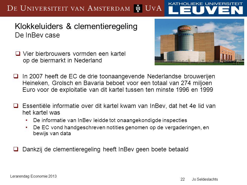 Klokkeluiders & clementieregeling De InBev case