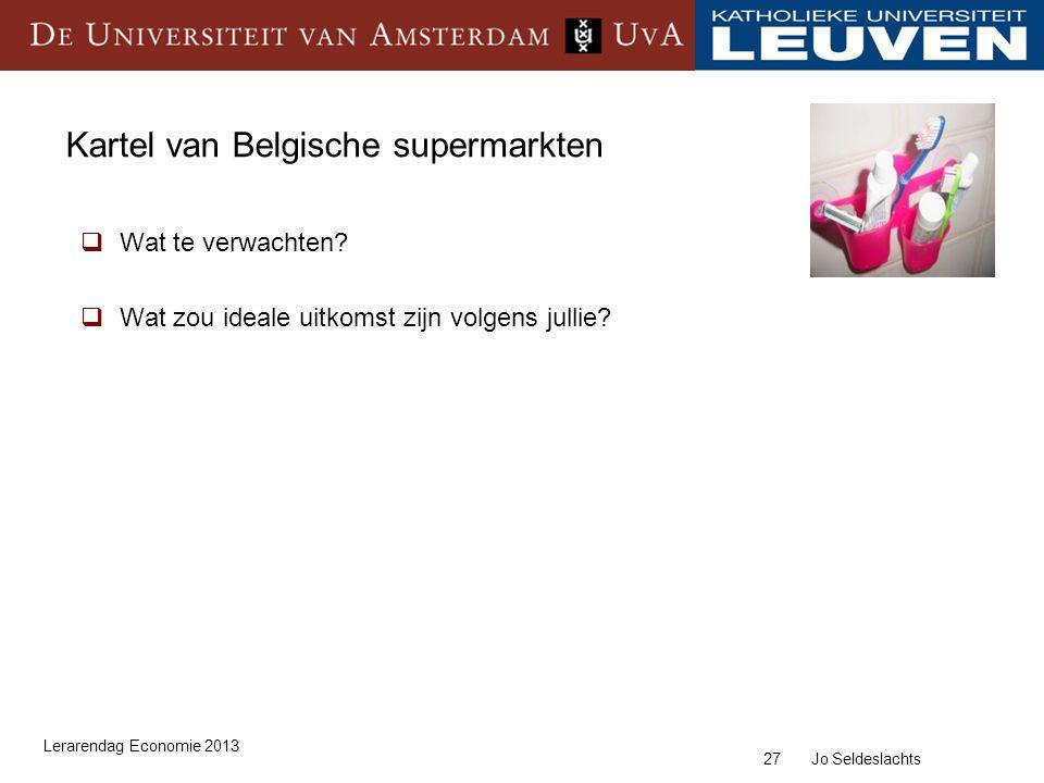Kartel van Belgische supermarkten