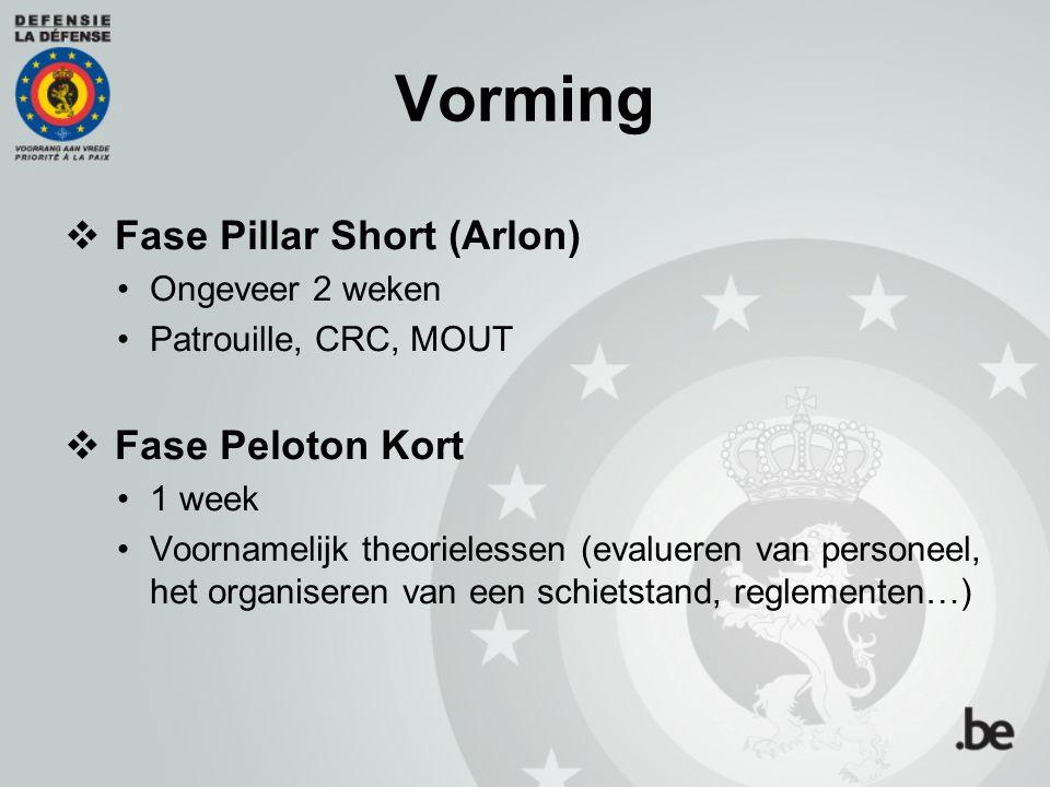 Vorming Fase Pillar Short (Arlon) Fase Peloton Kort Ongeveer 2 weken