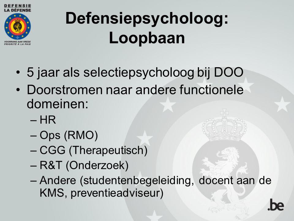 Defensiepsycholoog: Loopbaan