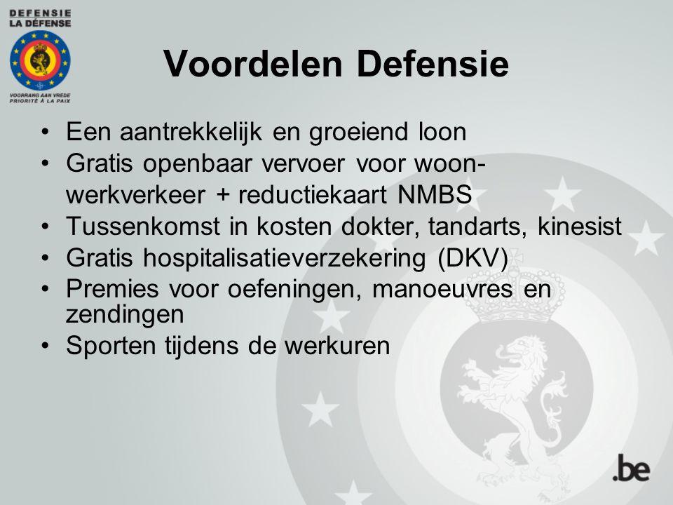 Voordelen Defensie Een aantrekkelijk en groeiend loon