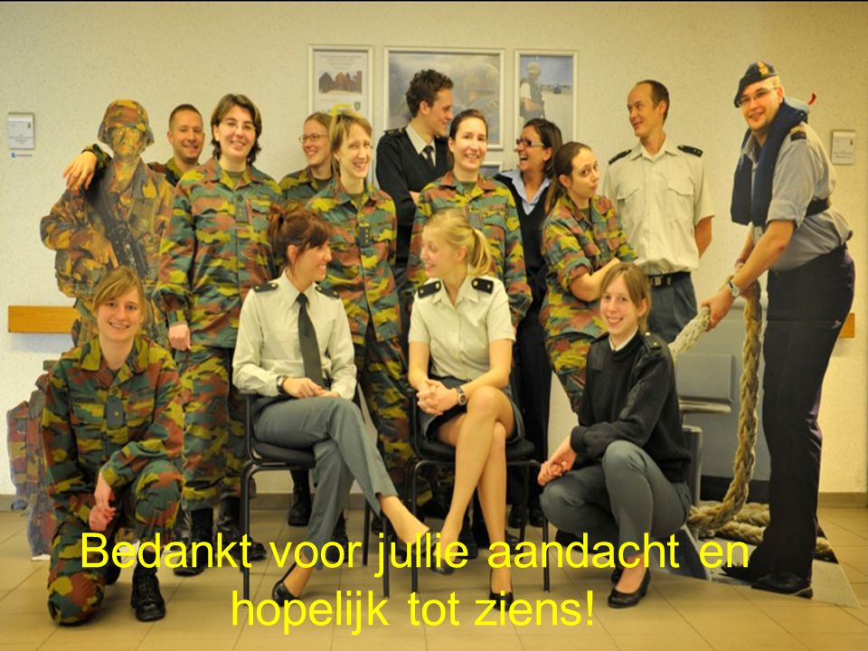 Bedankt voor jullie aandacht en hopelijk tot ziens!