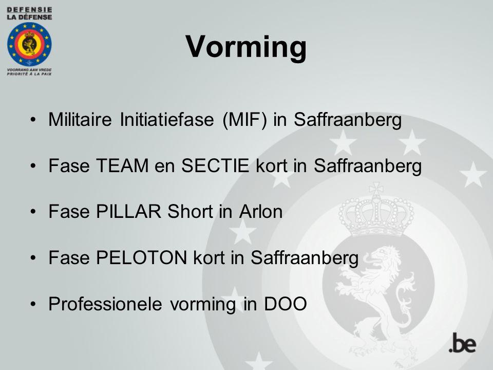 Vorming Militaire Initiatiefase (MIF) in Saffraanberg