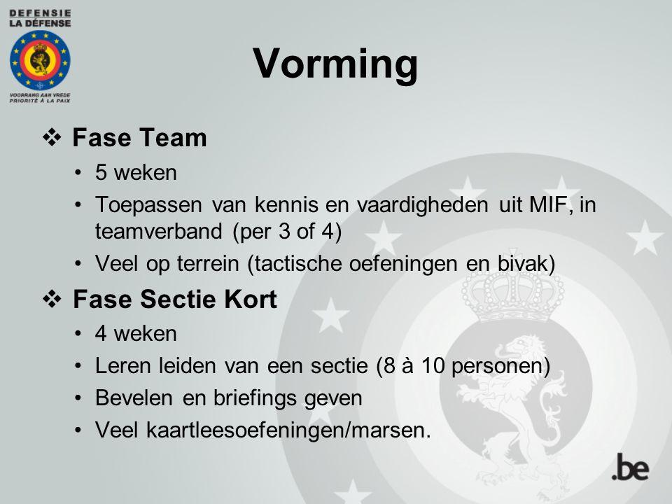 Vorming Fase Team Fase Sectie Kort 5 weken