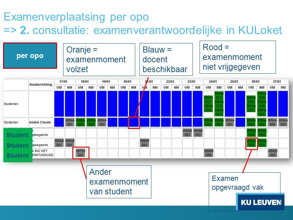 Examenverplaatsing per opo => 2