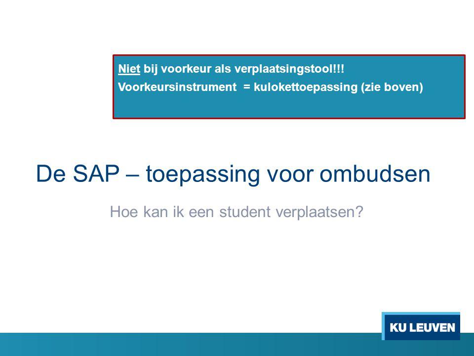 De SAP – toepassing voor ombudsen
