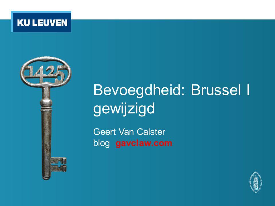 Bevoegdheid: Brussel I gewijzigd