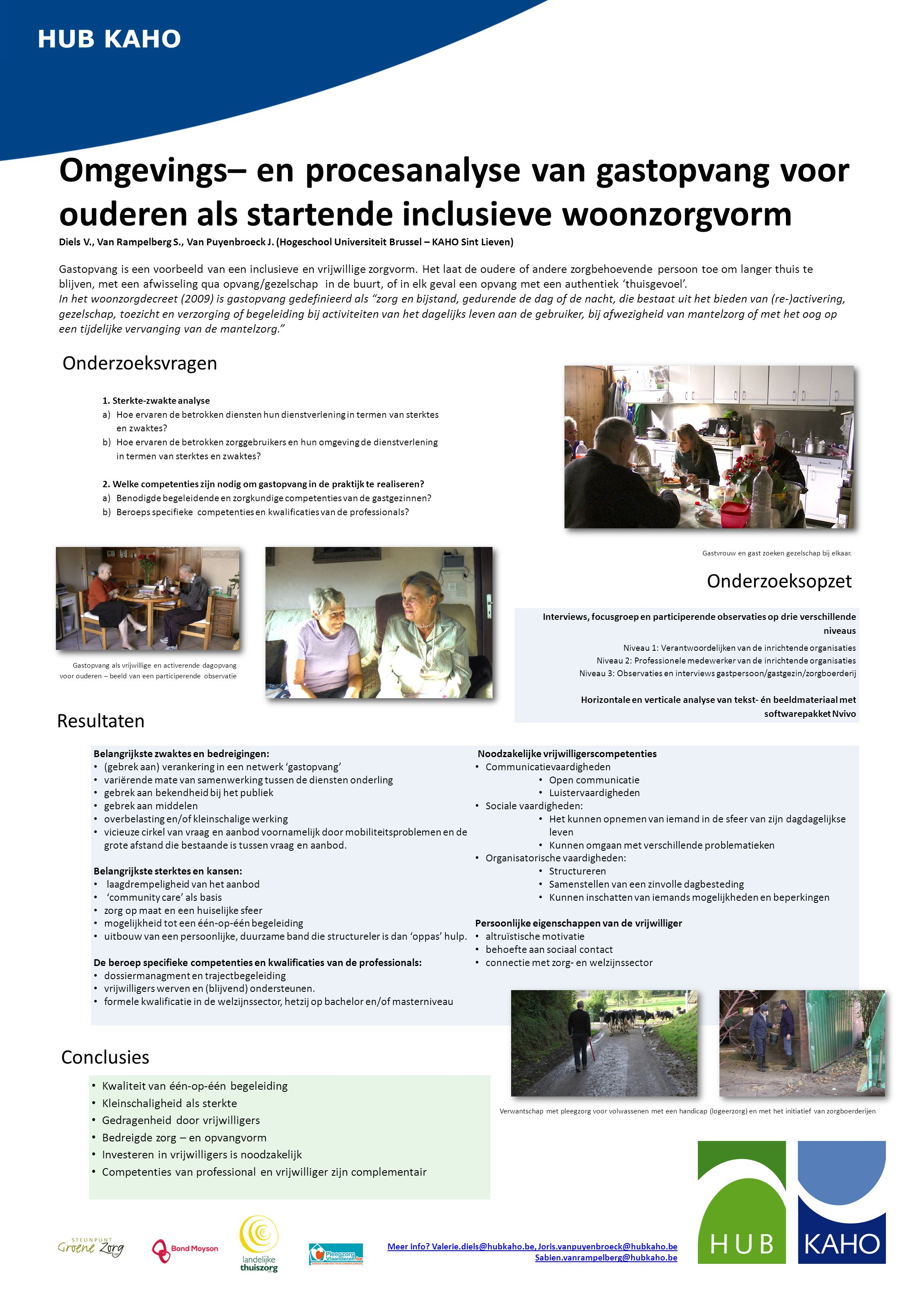 HUB KAHO Omgevings– en procesanalyse van gastopvang voor ouderen als startende inclusieve woonzorgvorm.