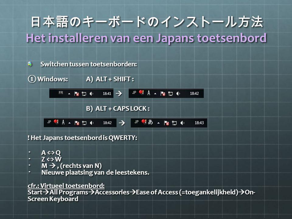 日本語のキーボードのインストール方法 Het installeren van een Japans toetsenbord