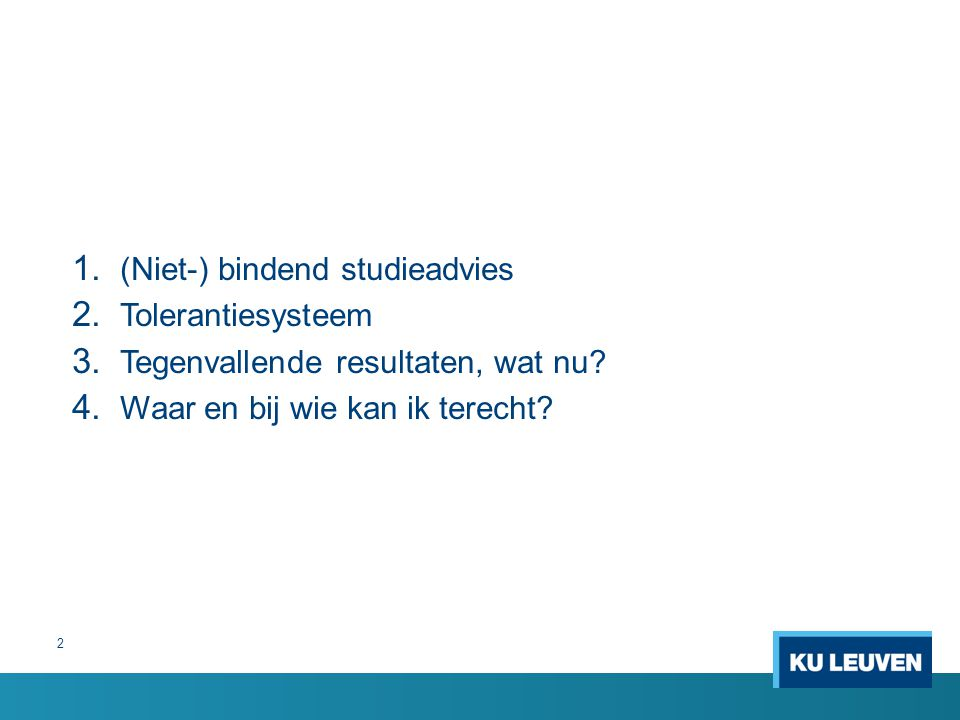 (Niet-) bindend studieadvies