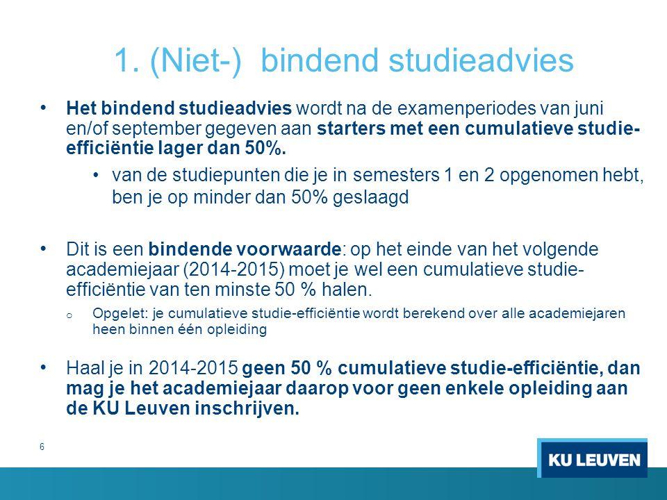 1. (Niet-) bindend studieadvies