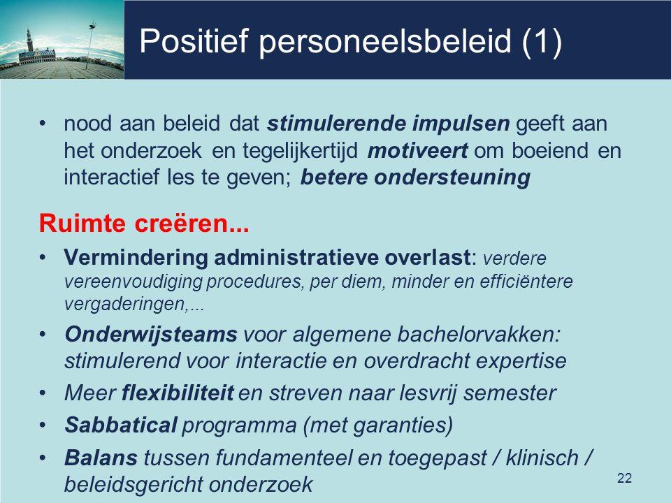 Positief personeelsbeleid (1)