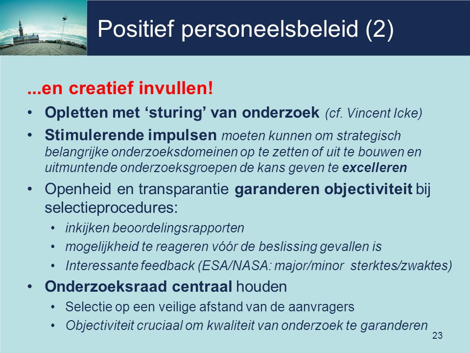 Positief personeelsbeleid (2)