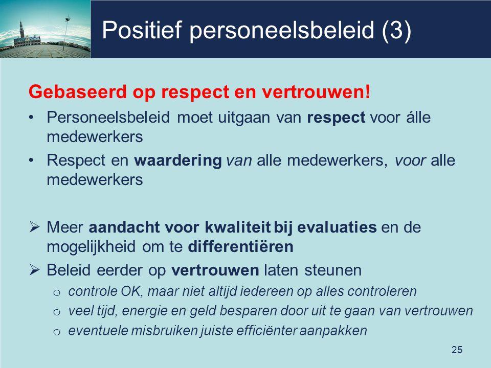 Positief personeelsbeleid (3)