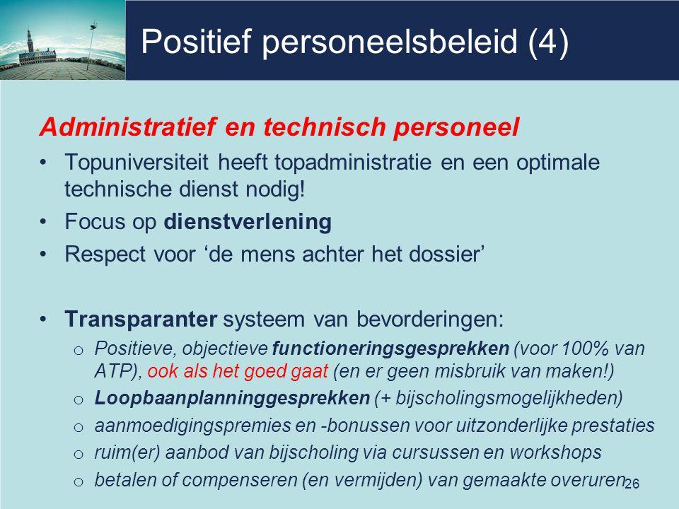 Positief personeelsbeleid (4)