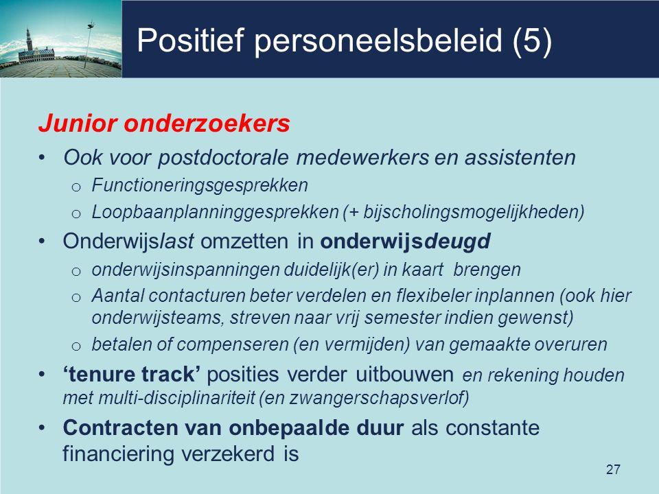 Positief personeelsbeleid (5)