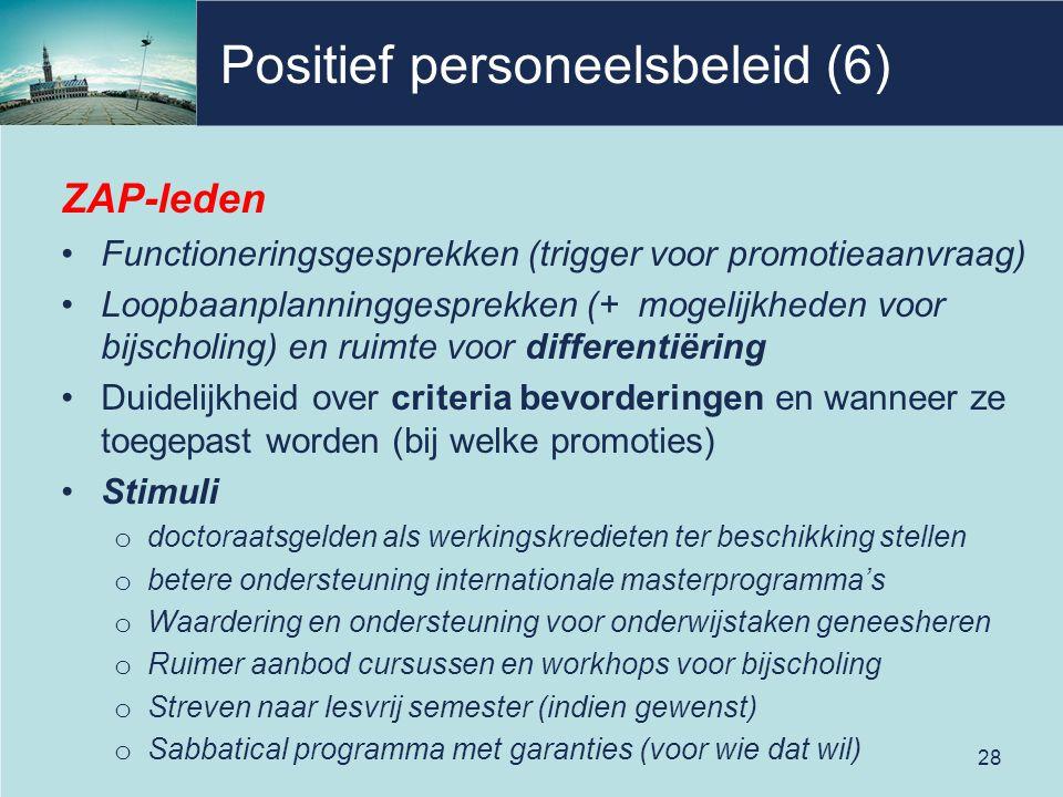 Positief personeelsbeleid (6)