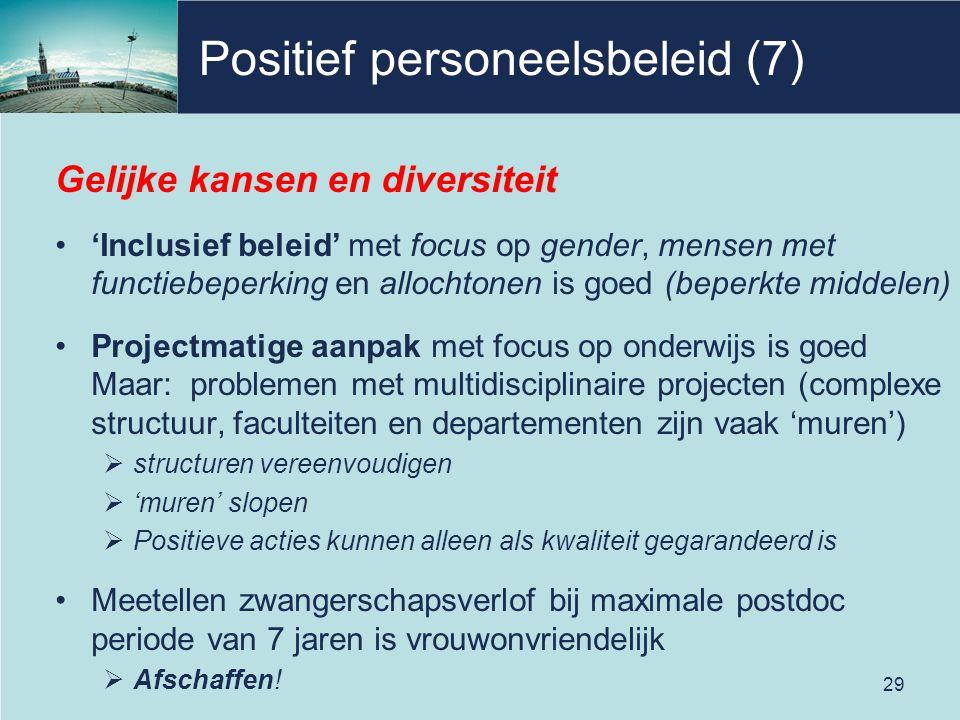 Positief personeelsbeleid (7)