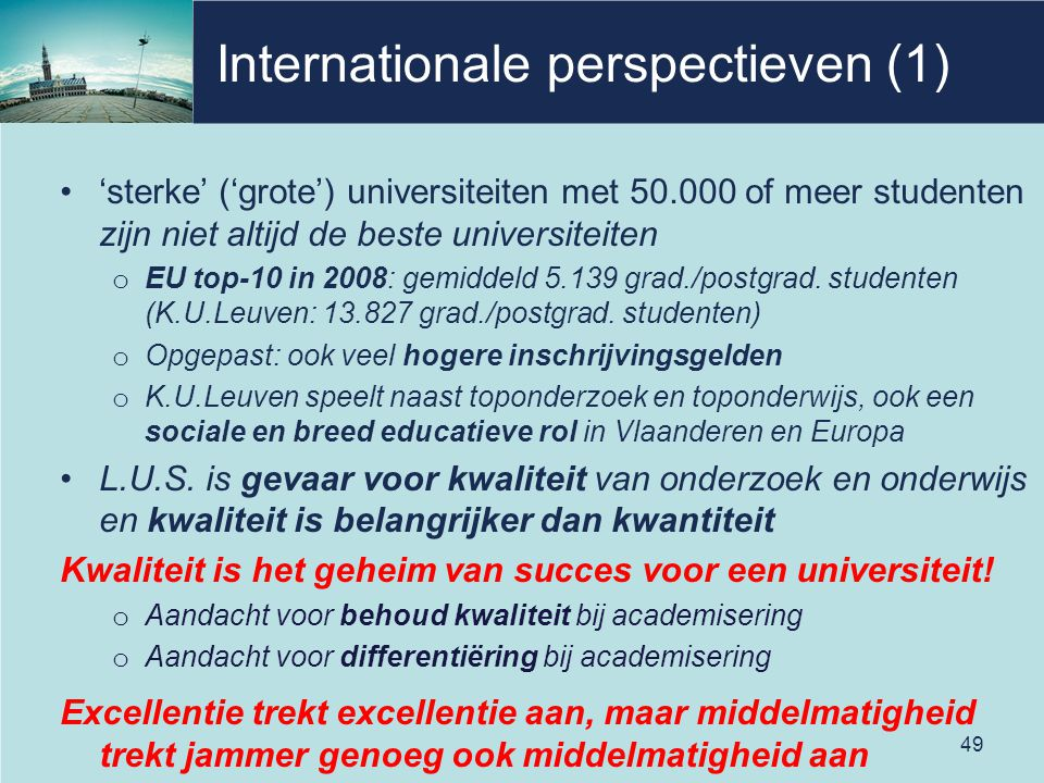 Internationale perspectieven (1)