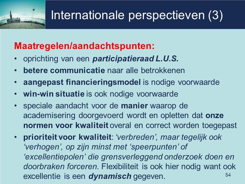 Internationale perspectieven (3)