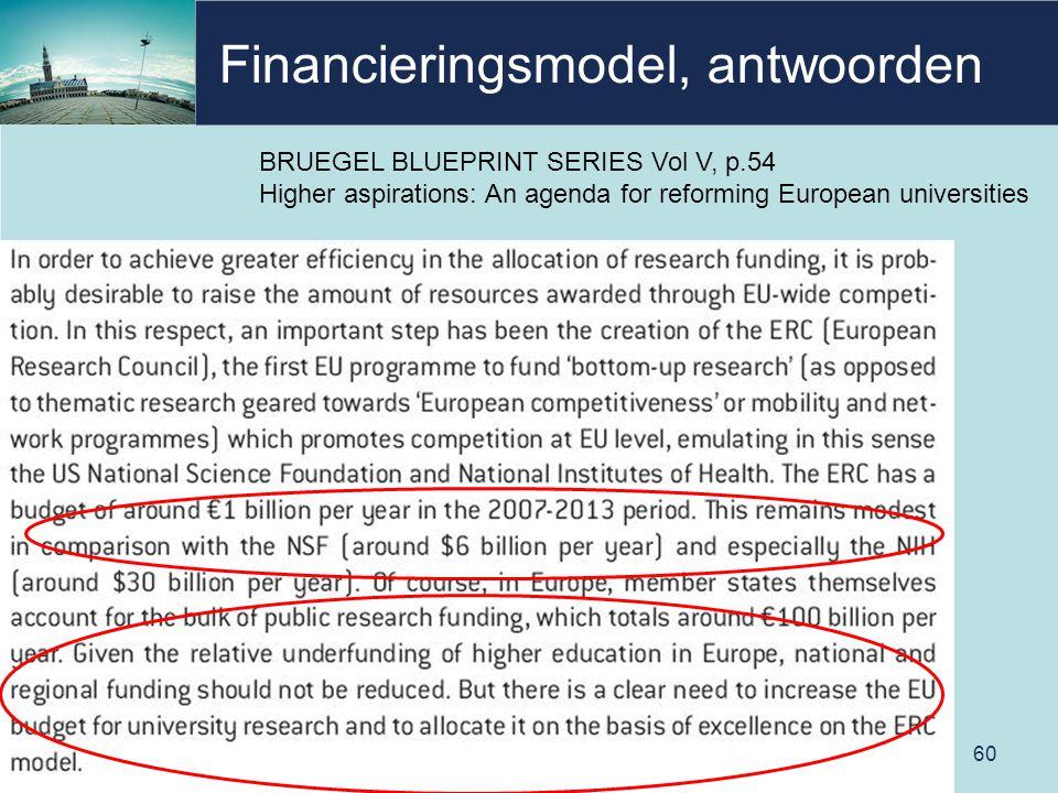 Financieringsmodel, antwoorden