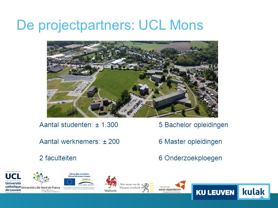 De projectpartners: UCL Mons