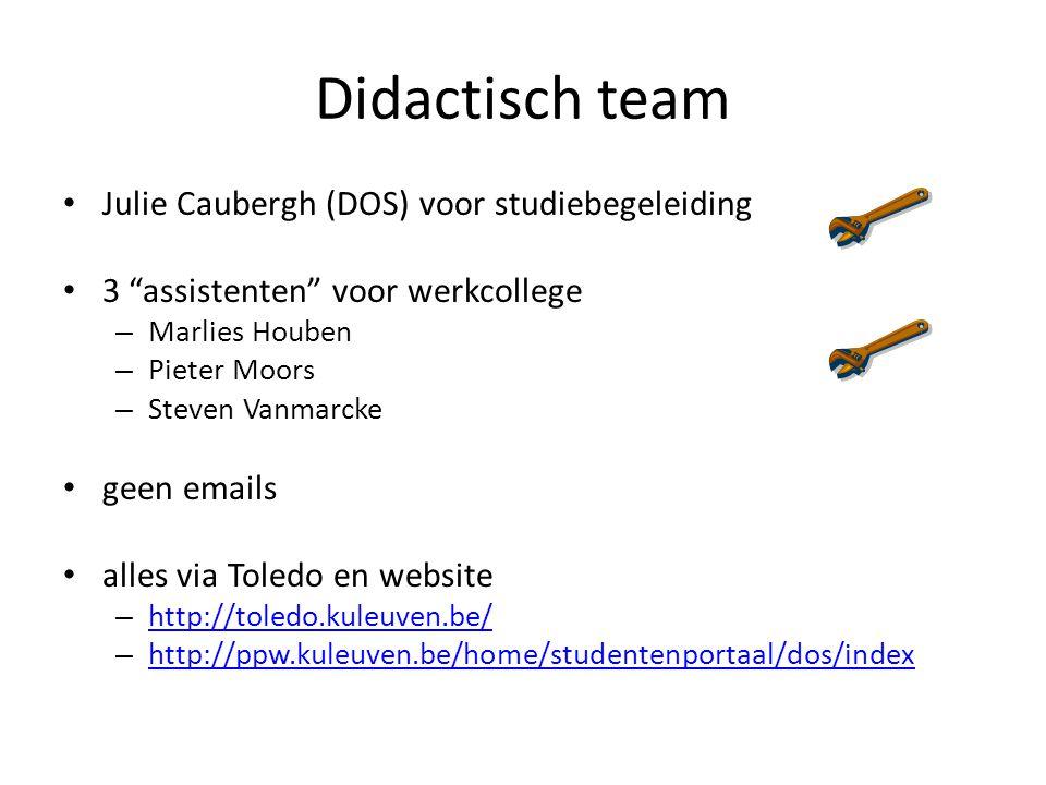 Didactisch team Julie Caubergh (DOS) voor studiebegeleiding